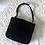 Thumbnail: Vintage Black Pleated Fabric Eevening bag