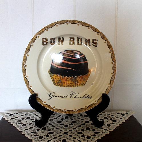 Bon Bons Gourmet Chocolate Ceramic Plate