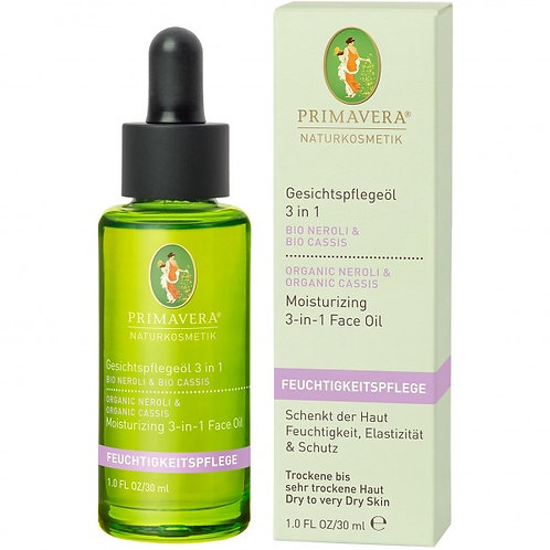 Primavera Neroli Cassis Moisturizing 3-in-1 Face Oil 有機橙花黑醋栗3合1護膚油