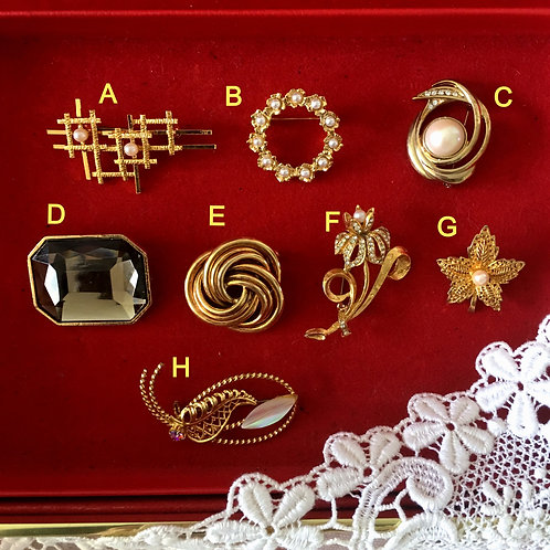 Vintage Brooches Collection1