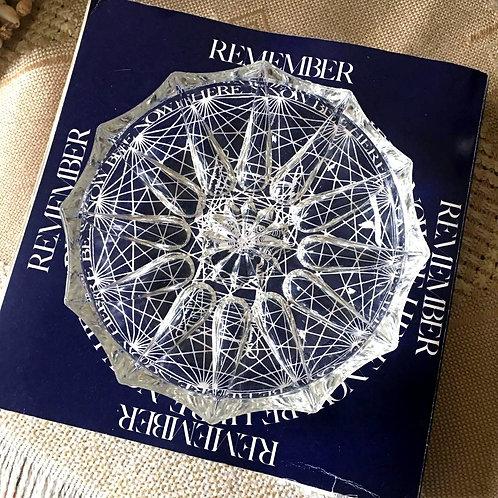 Mid Century Crystal Ashtray