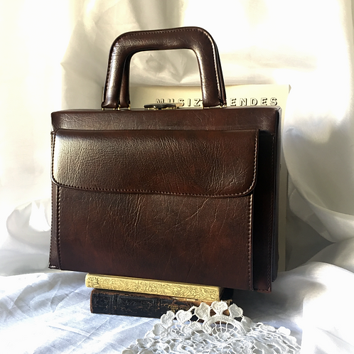 60s Makeup Vanity Handbag / Cosmetic Suitcase