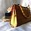 Thumbnail: Vintage Stylish Light Brown Floral Bamboo Slatted Handbag