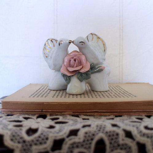 Porcelain Love Doves Figurine