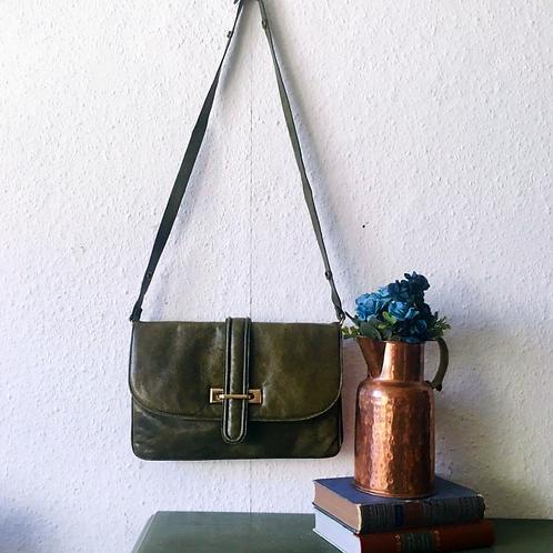 Olive Green Artigiani Veneziani Italian Two Way Bag