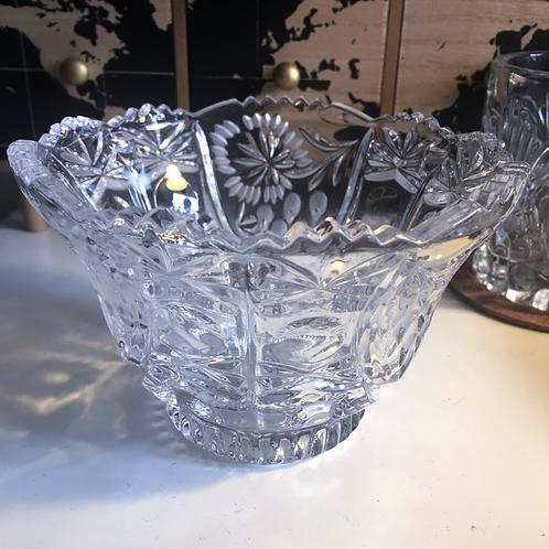 Vintage Cut Glass Lead Crystal Bowl
