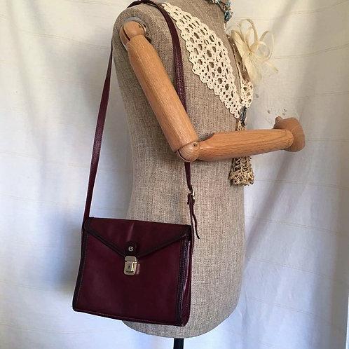 Vintage ERELLE Burgundy Handmade Finest Leather Should Bag