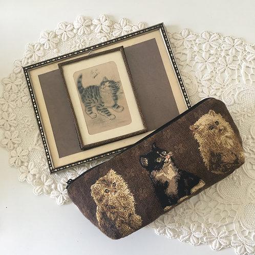 70-80年代德國製猫咪筆袋/化妝袋