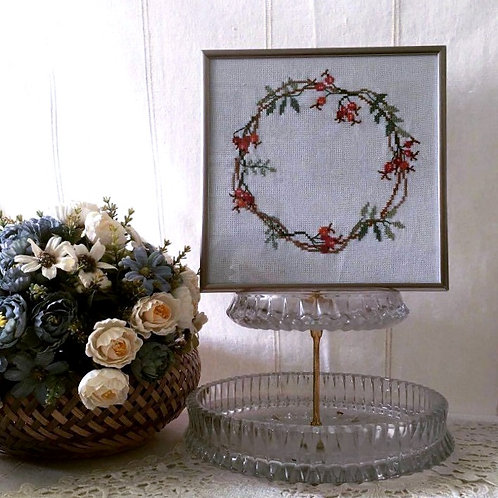 Floral Embroidered Picture
