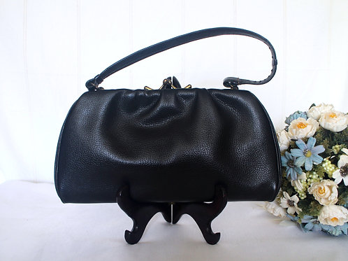 Vintage German Leather Framed Handbag