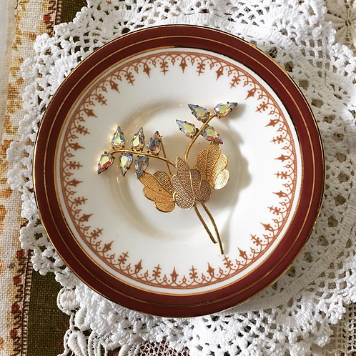 Vintage Rhinestones Flower Brooch