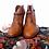 Thumbnail: Designer Hugo Boss Vero Cuoio Cognac Brown Ankle Boots