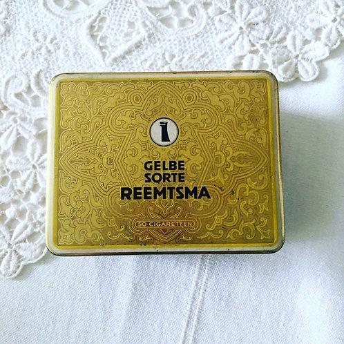 Vintage Gelbe Sorte Reemtsma Cigarette Tin