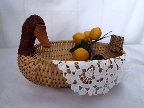 Vintage Wicker Duck Basket
