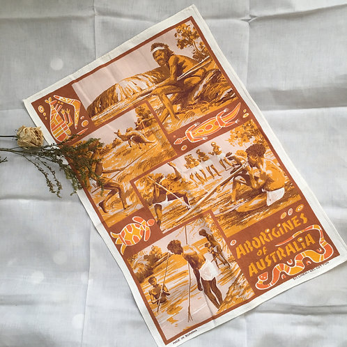 Retro Aborigines of Australia Tea Towel
