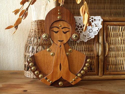 Wood Carved Woman Goddess Wall Art