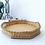 Thumbnail: Vintage Octagon Wicker / Wood Serving Tray