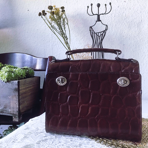 Vintage German Reisenthel Burgundy Satchel