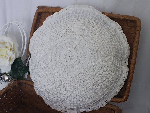 Vintage Crochet Cushion Tapestry Pillow