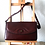 Thumbnail: YORN Vintage Geniune Leather Messenger Bag Burgundy Flip Lid