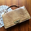 Thumbnail: Vintage Latte Tone Leather Croc Handbag / Purse