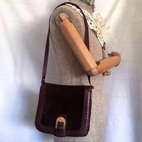Assima Vintage Leather Suede 2 ways Bag