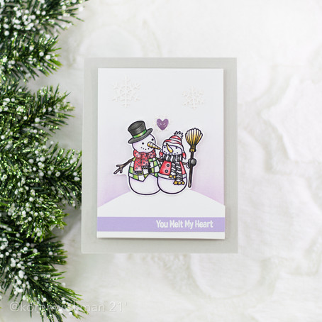 The One with the Friendly Snowmen Card Project with Spellbinders