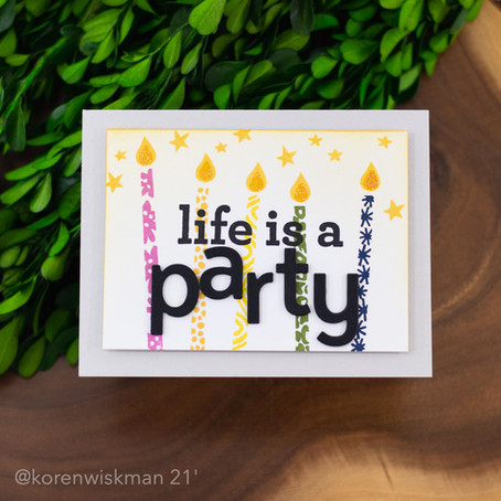 The One with the Life is a Party Card Project.