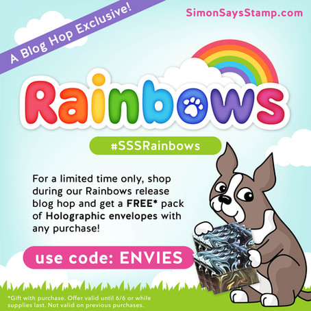 The One with the Simon Says Stamp Rainbows Release Blog Hop Day 2