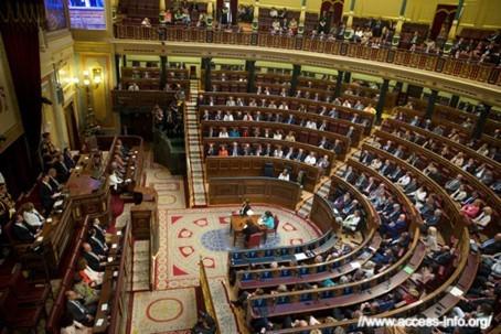 İspanya Parlamentosu  iç görünüm