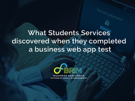 What Students Services discovered when they completed a business web app test