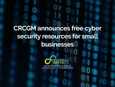 CRCGM announces free cyber security resources for small businesses