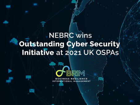 NEBRC wins Outstanding Cyber Security Initiative at 2021 UK OSPAs