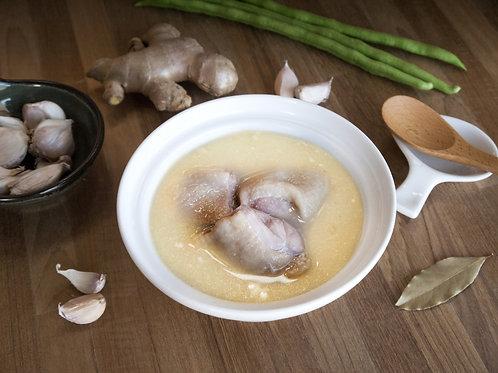 蒜香味噌雞湯