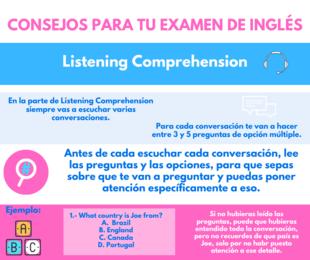 Consejos para tu examen de inglés: Listening Comprehension