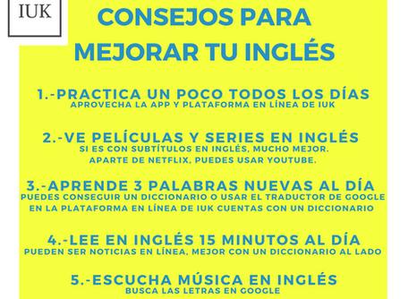 Resumen de los consejos para mejorar tu inglés