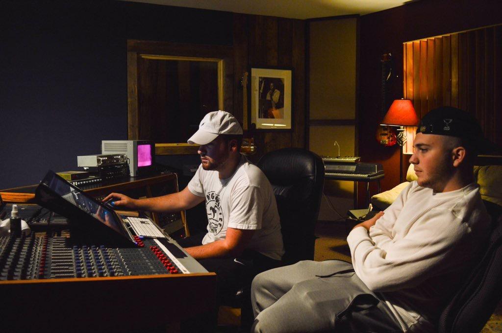 Dre Scott in the studio