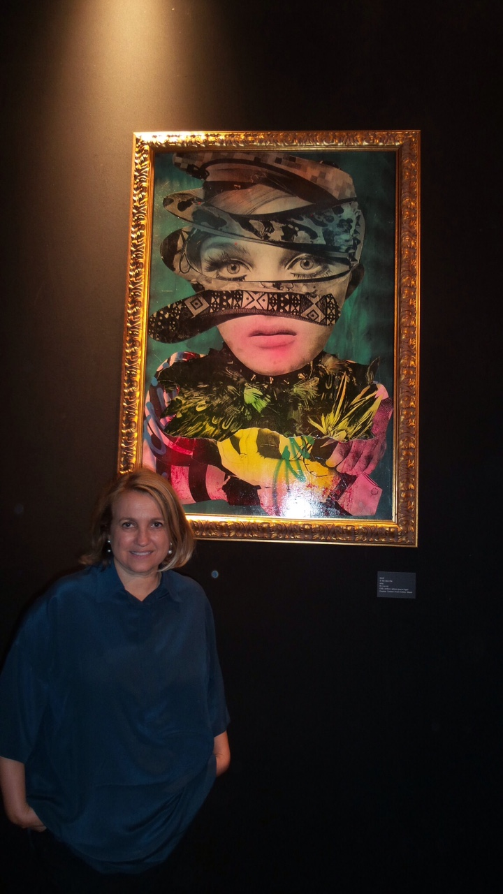 Silvia Fendi with Dain's piece