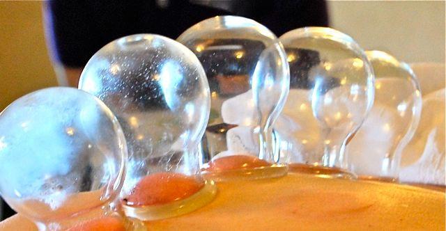 standing glass fire cups