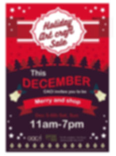 Holiday Art Sale poster designed by Jean Kyungmin Lee