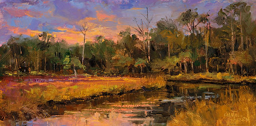 NOAPS PA Julien Southern Marsh 8x16 Oil.