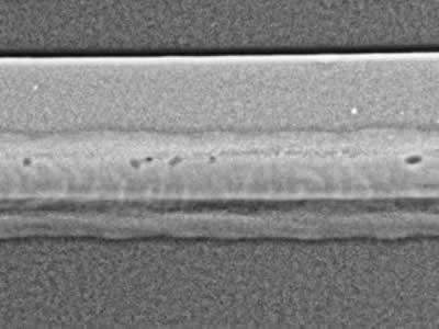 Digital radiography of weld shows voiding.