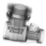 This is a 2-dimensional x-ray image of a small engine casting