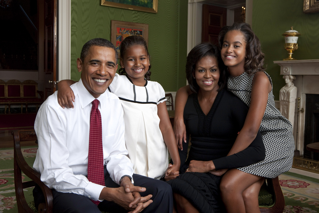 Obamas family portrait
