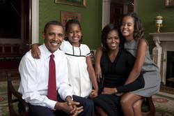 Obamas family portrait