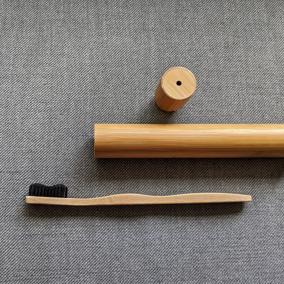 Bamboo Tooth Brush Open