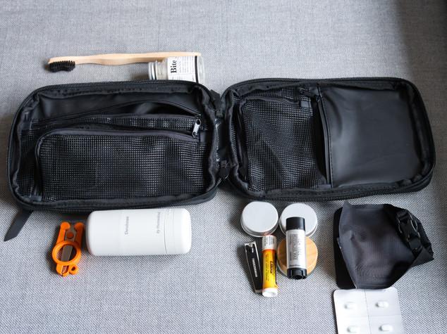 Explorer Slim Toiletry Bag Items