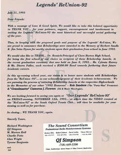QJ Simpson Legends Letter