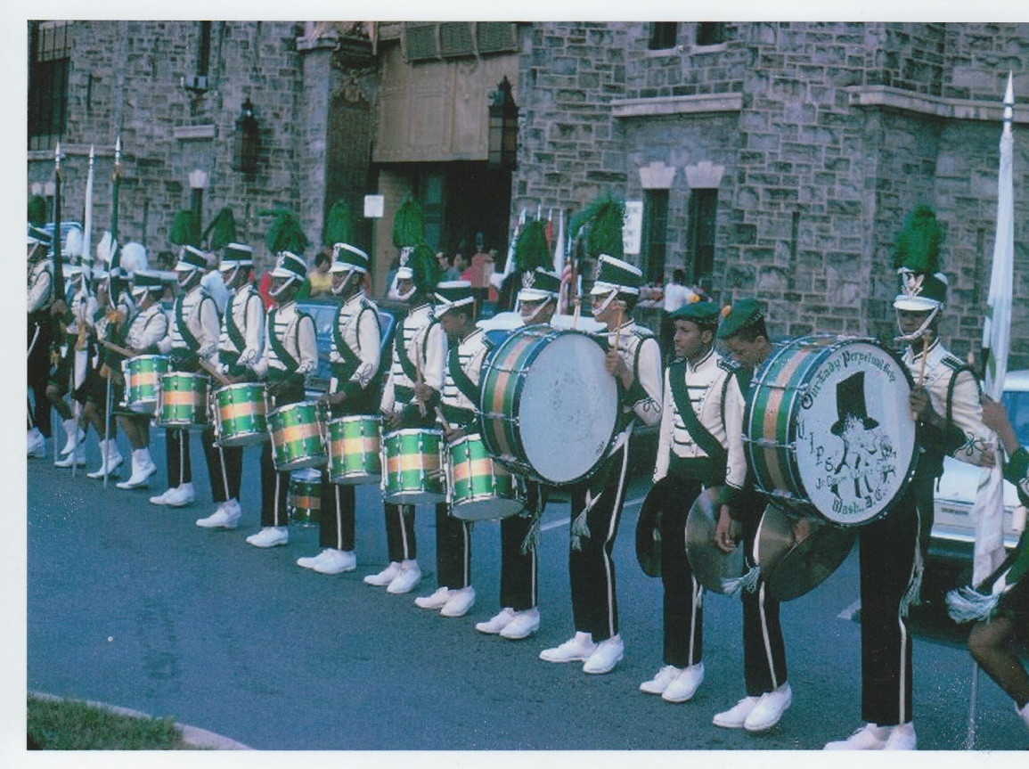 Full Drum Line before an Event