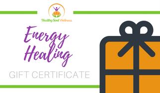 Energy Balancing & Healing Gift Certificate